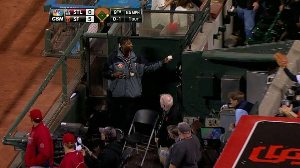 Nice grab in the dugout