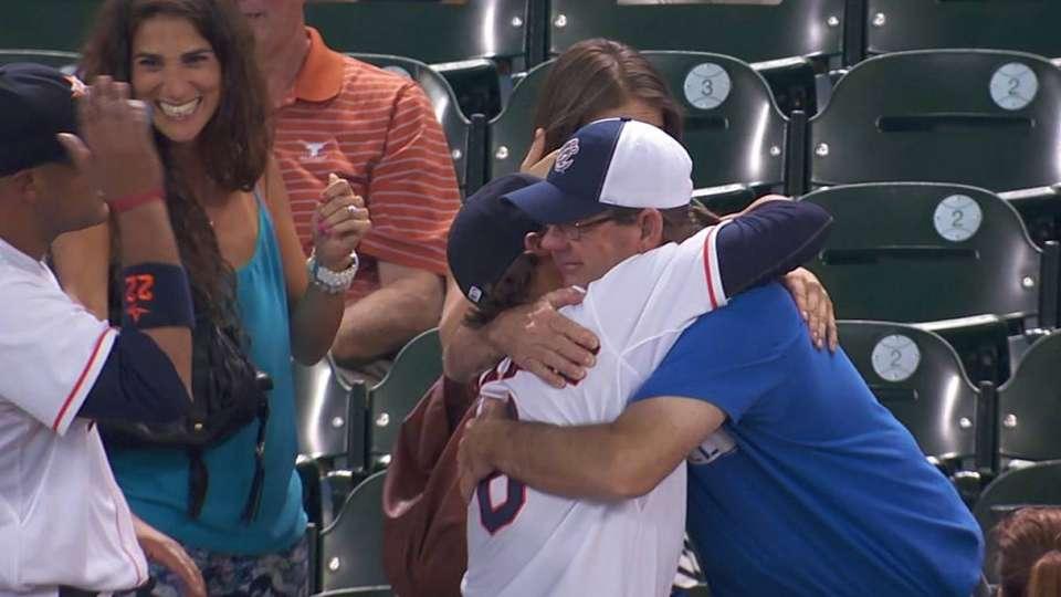 Hernandez checks in with family