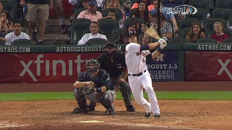 Hernandez's first career hit