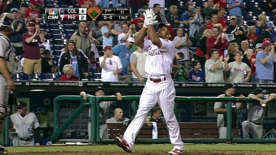 Revere's first career homer