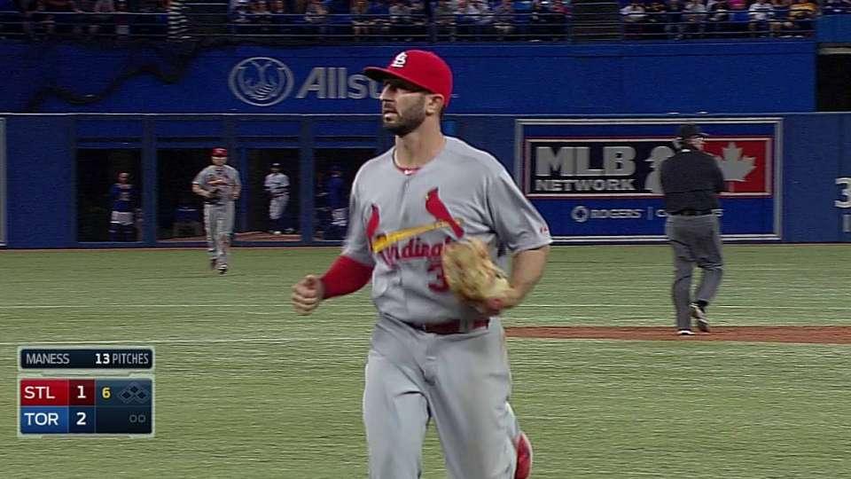 Cardinals' triple play