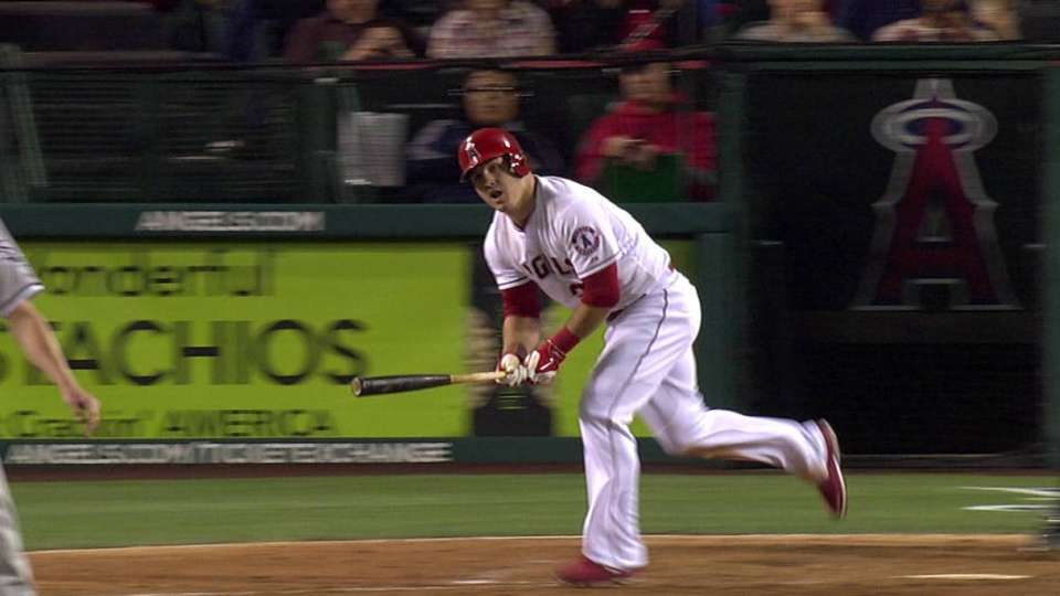 Trout's game-tying grand slam