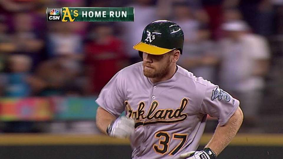 Moss' two-run homer