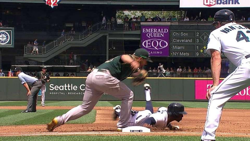 Jones takes two bases