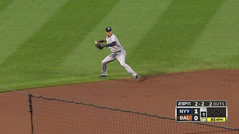 Jeter, Teixeira combine for out