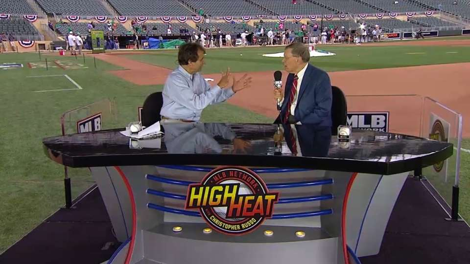 Bud Selig chats with the Mad Dog