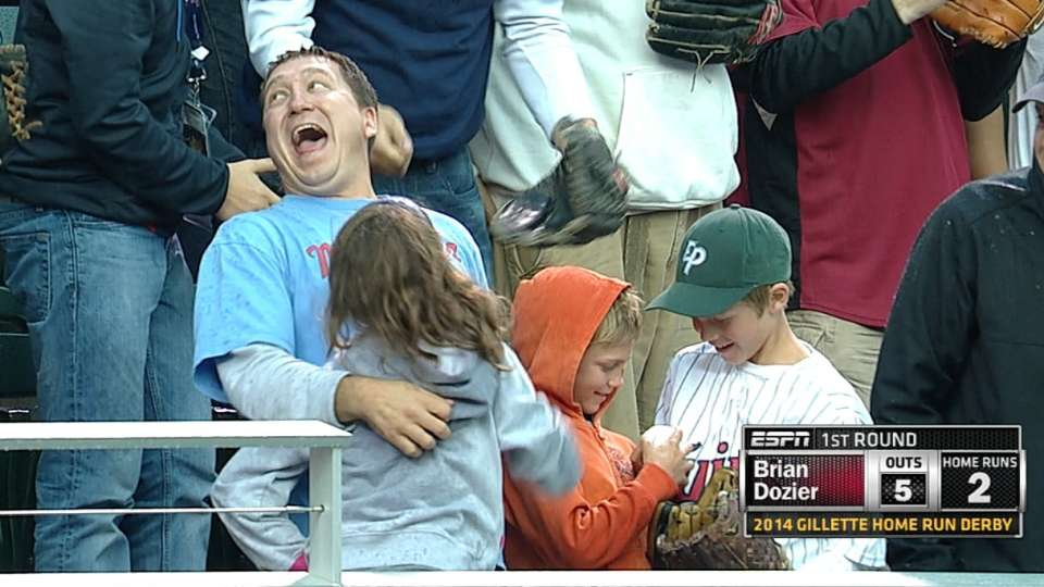 Dad catches two home runs