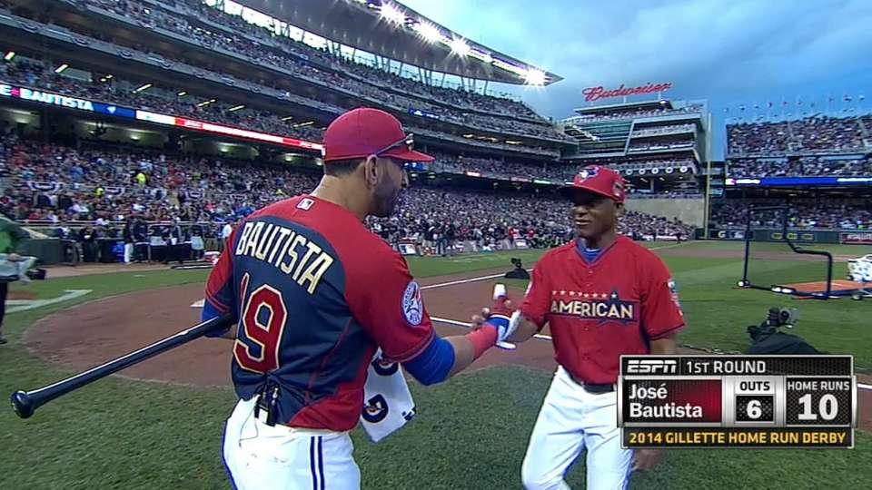 Bautista's 10 homers