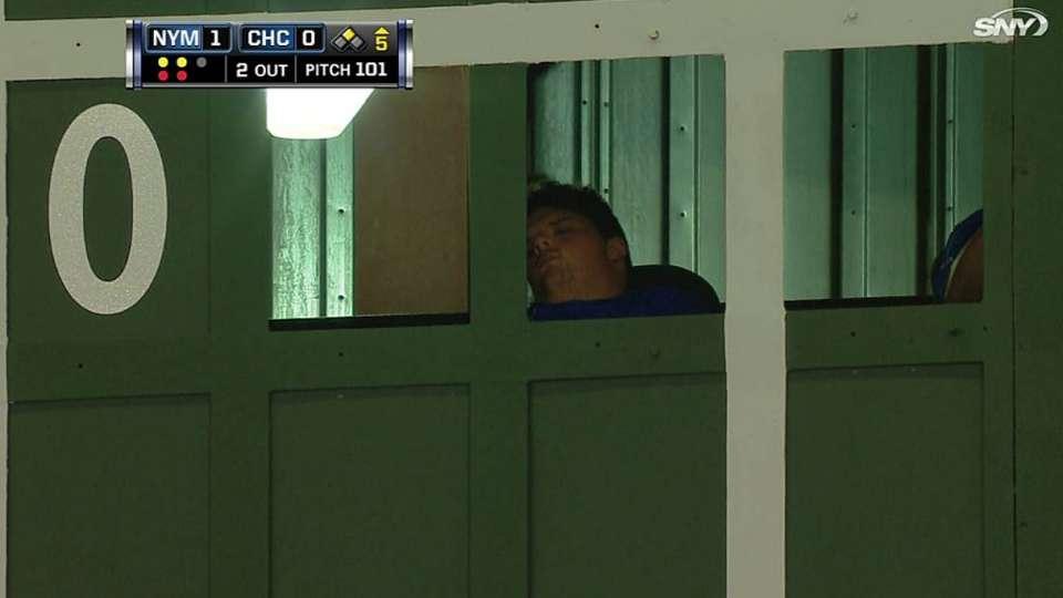 Operator sleeps in scoreboard
