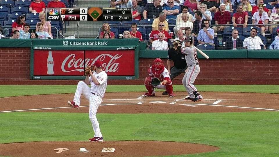 Lee's 1-2-3 inning