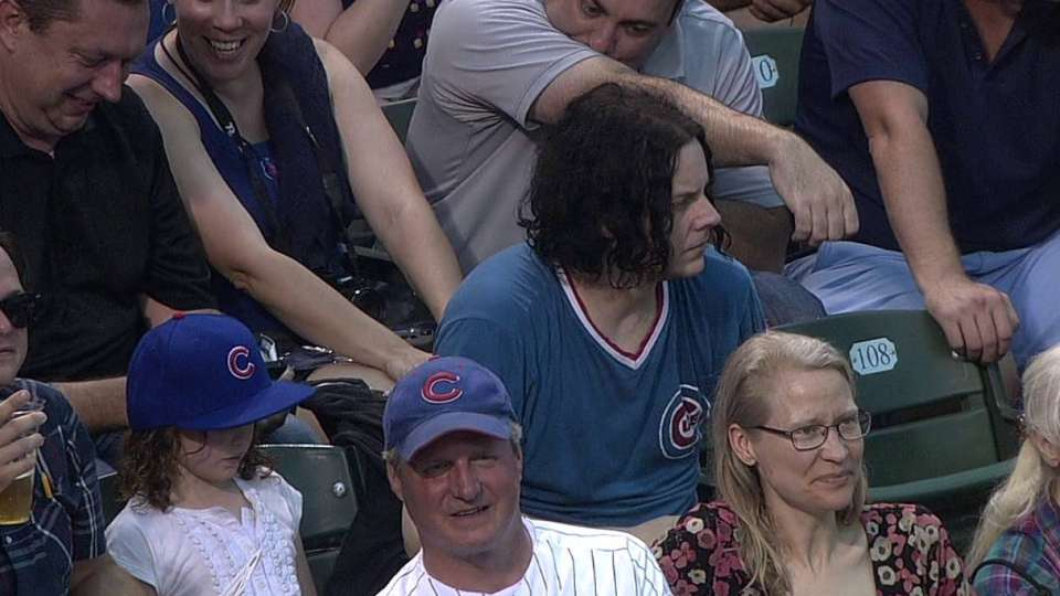 Jack White enjoys the Cubs game