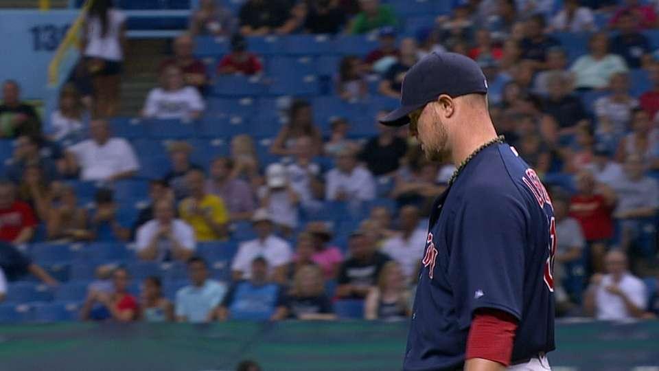 Lester's seven strikeouts