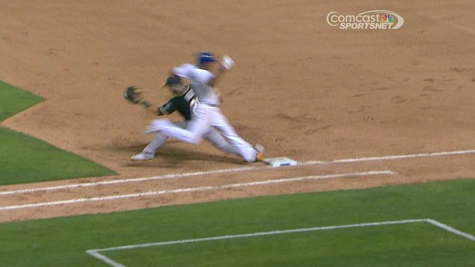 A's challenge safe call