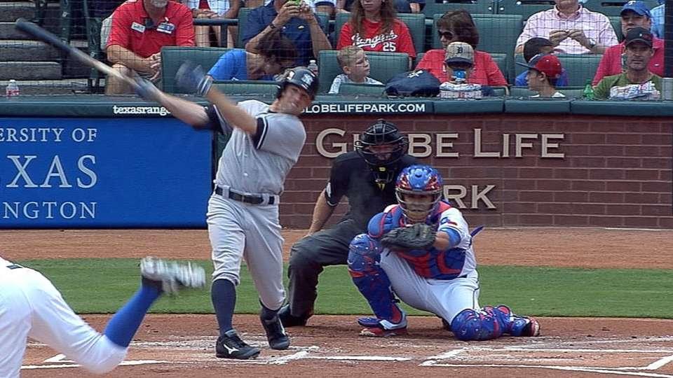 Gardner's four-hit game