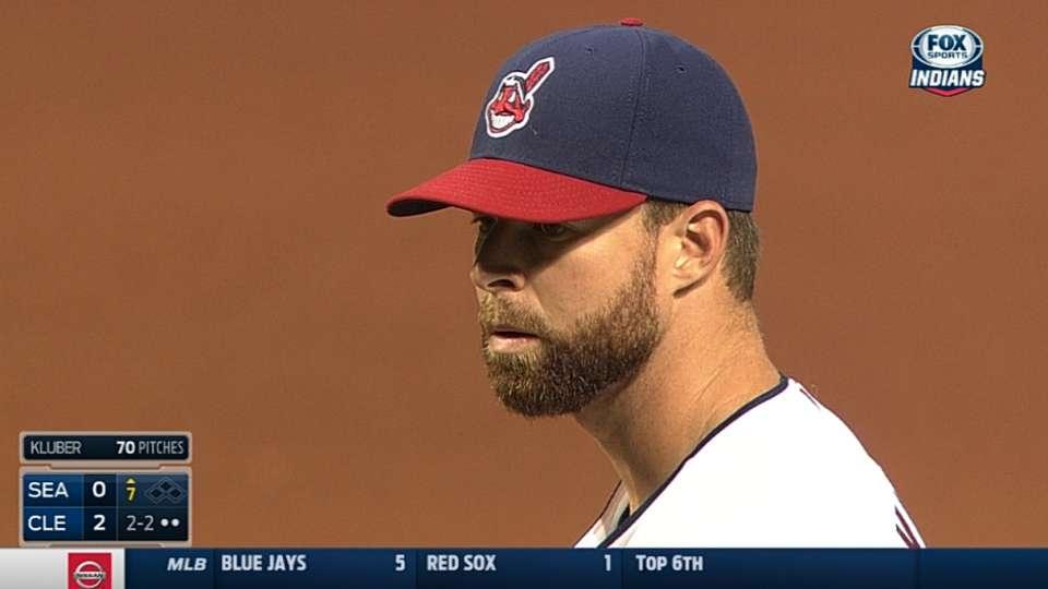 Kluber's three-hit shutout