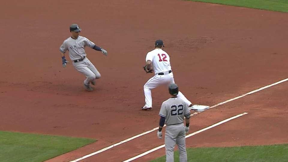 Bradley Jr. doubles off Jeter