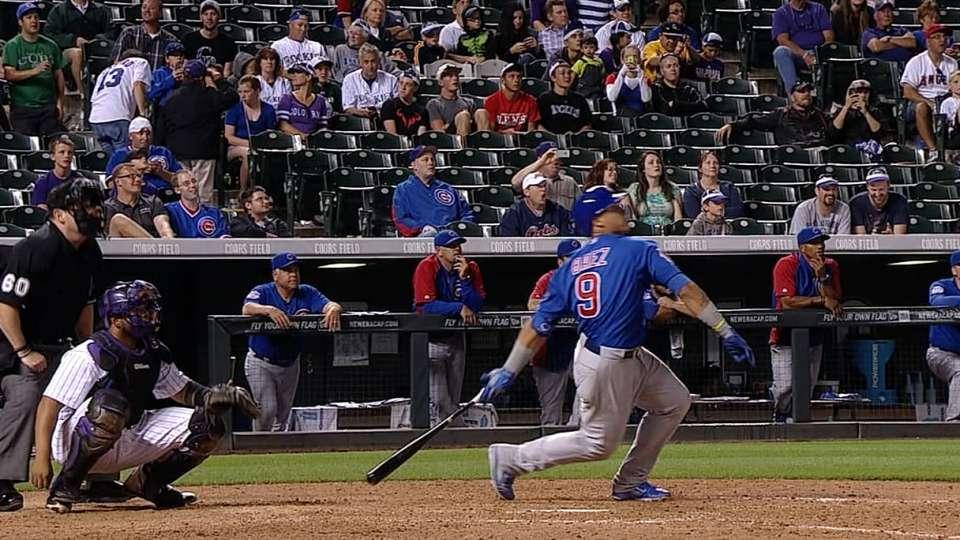 Baez's first career homer