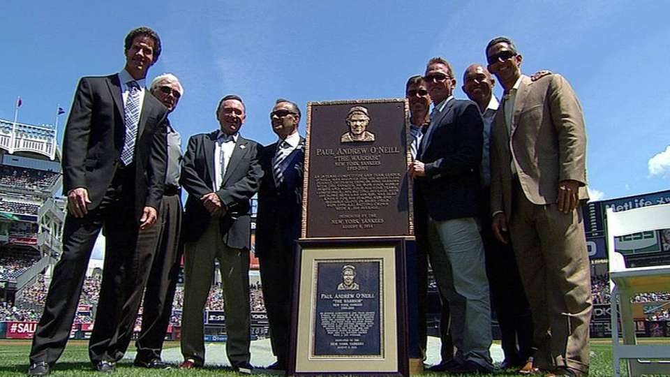 O'Neill honored by Yankees