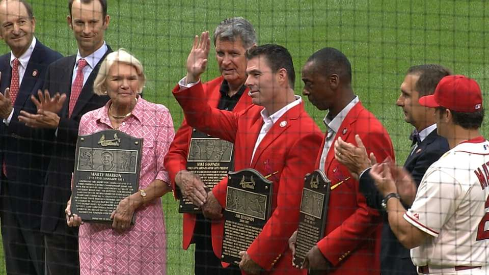 Four inducted into Cards' Hall