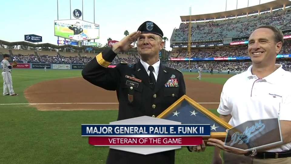 Dodgers honor veteran