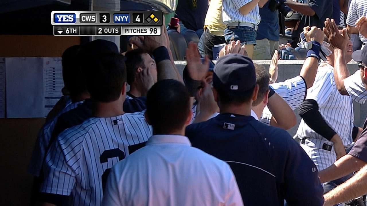 Yankees score four unearned