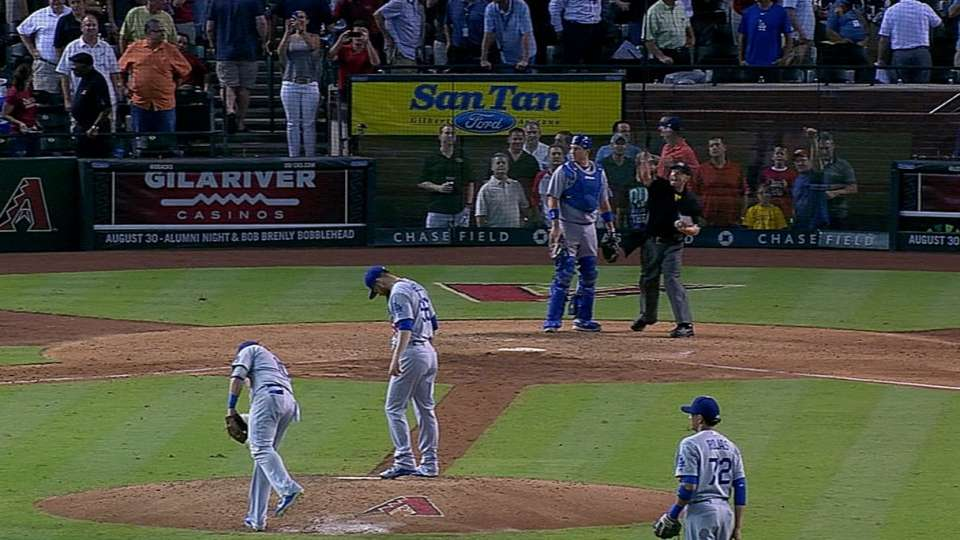 Ethier gets ejected in 7th