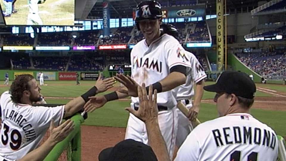 Marlins' three-run eighth inning