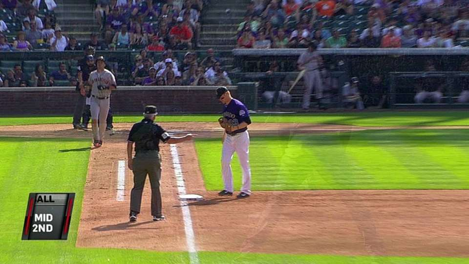 Morneau snags liner, turns two