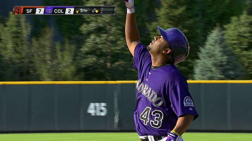 Ynoa's first career hit