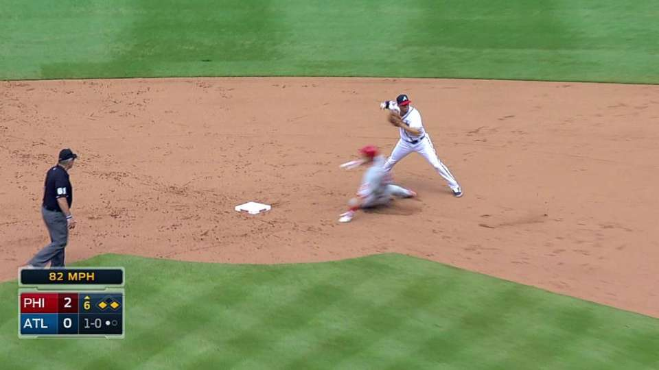Braves' nice double play
