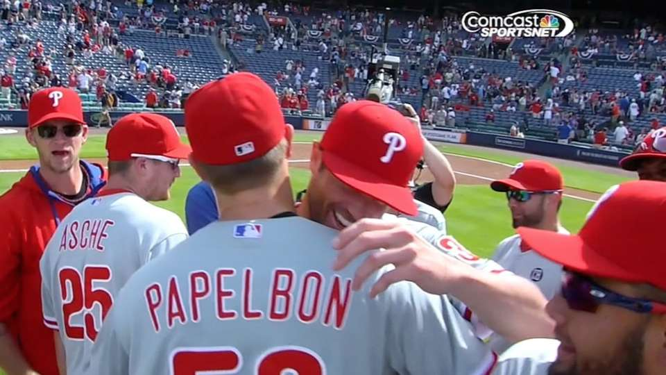 Papelbon finishes combined no-no