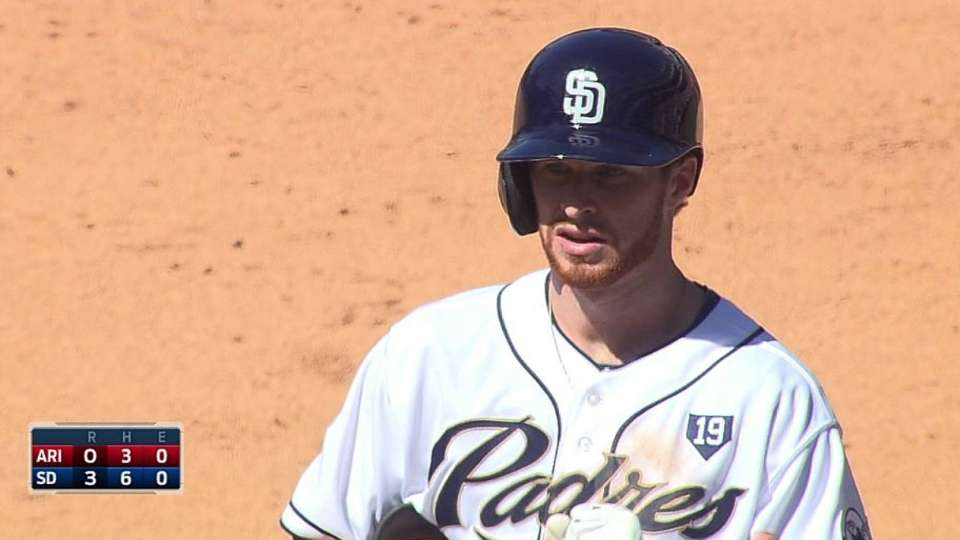 Spangenberg's first career hit