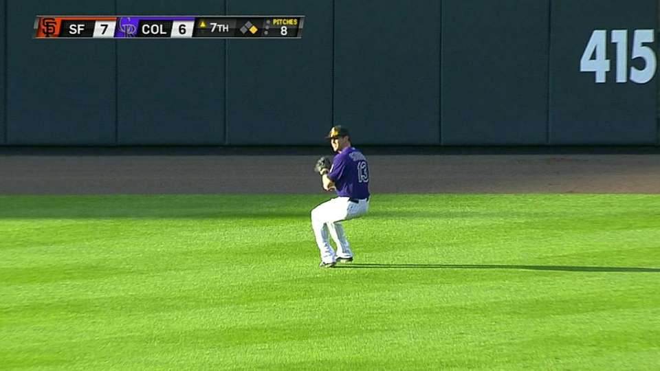 Stubbs' nice leaping catch