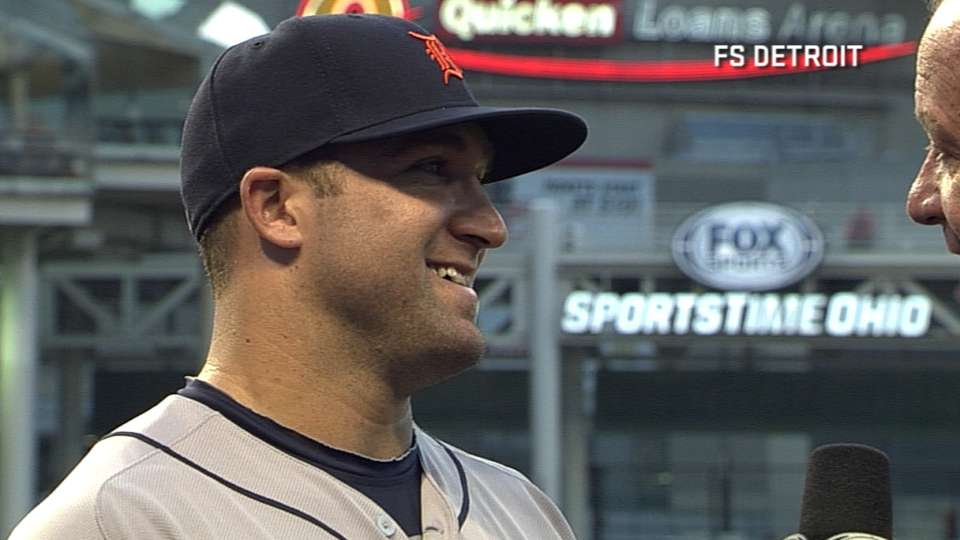 Collins on first career homer