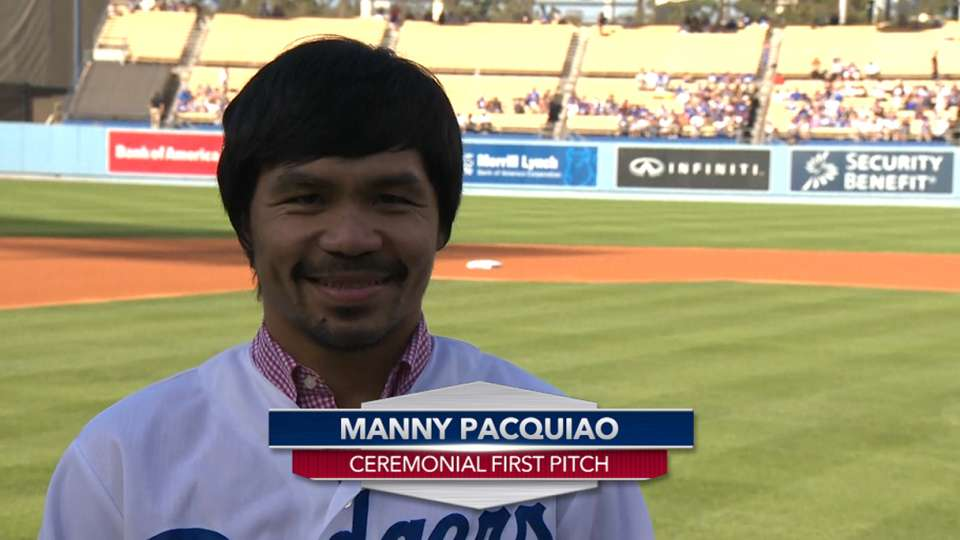 Manny Pacquiao first pitch