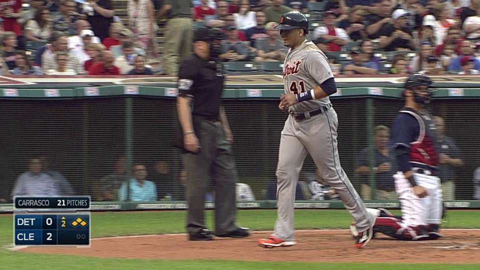 Avila walks to force in a run