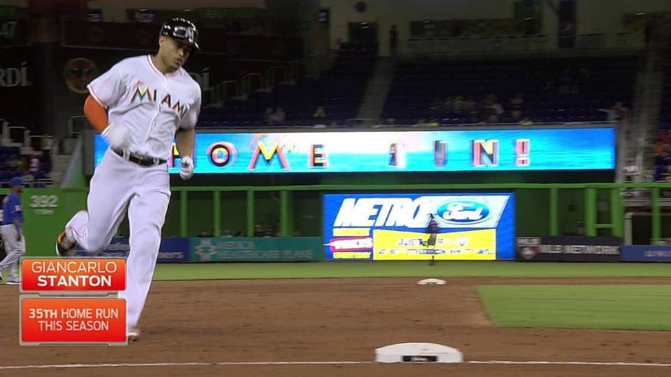 Stanton tallies 100 RBIs