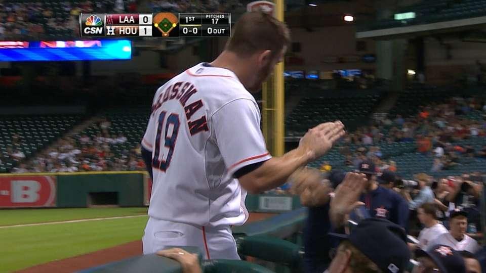 Astros score three in the 1st