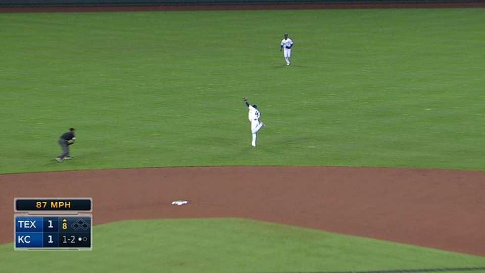 Infante's athletic catch