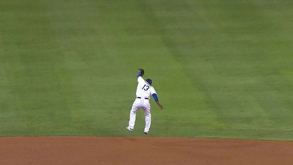 Hanley's leaping catch