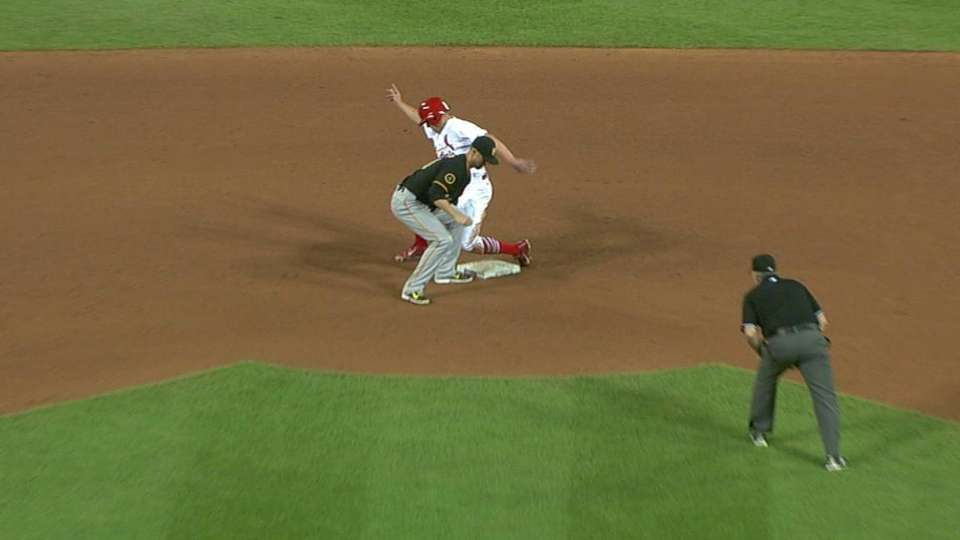 Martin completes double play