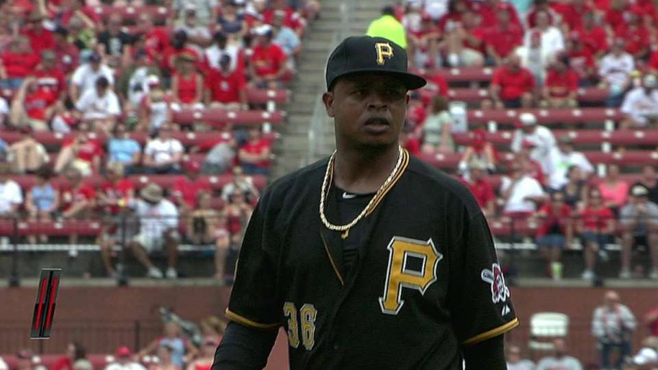 Volquez gets out of trouble
