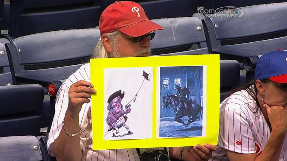 Phillies fan's creative signs