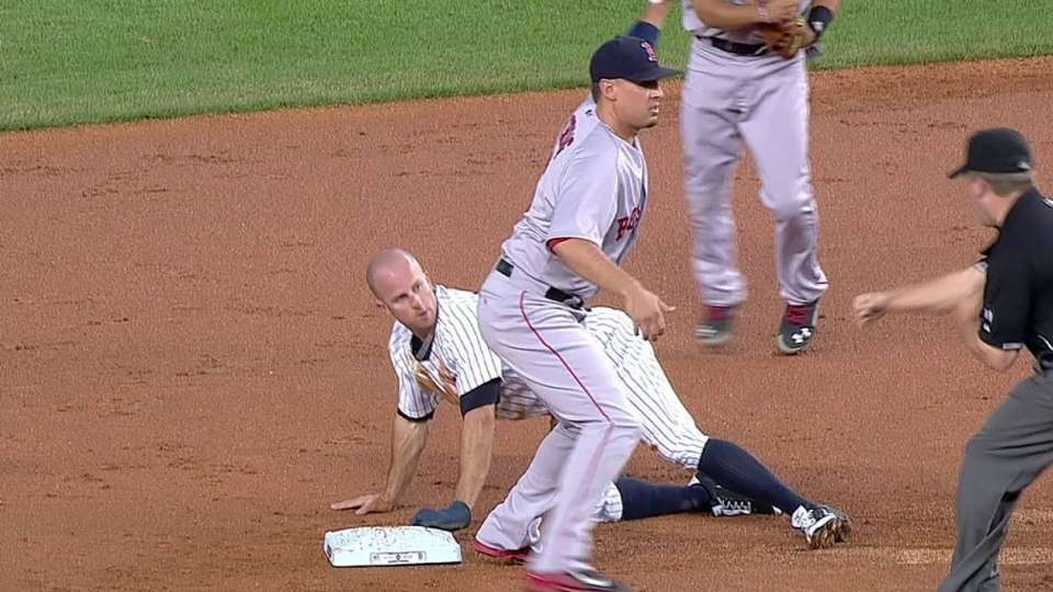 Red Sox turn unique double play