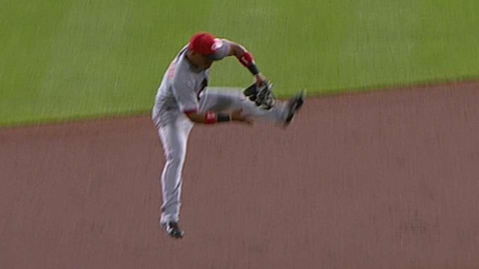 Santiago's leaping grab