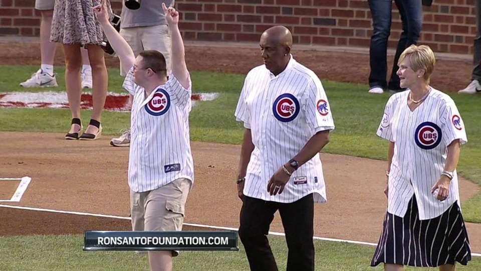 Logan Burke's first pitch