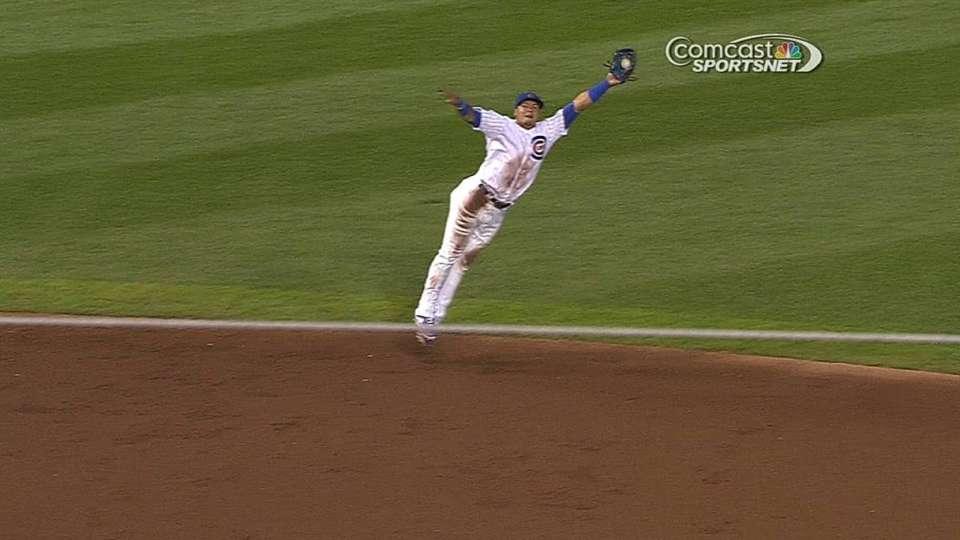 Baez's leaping grab