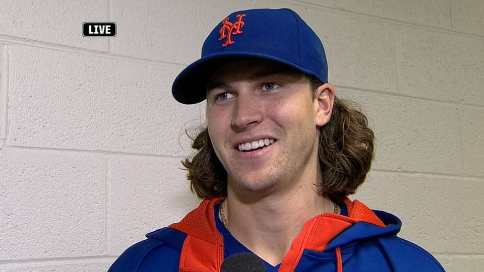 deGrom discusses his outing