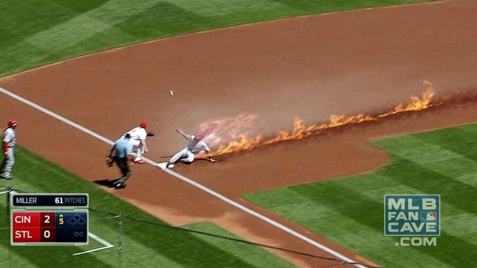 Hamilton Burns Up Basepaths