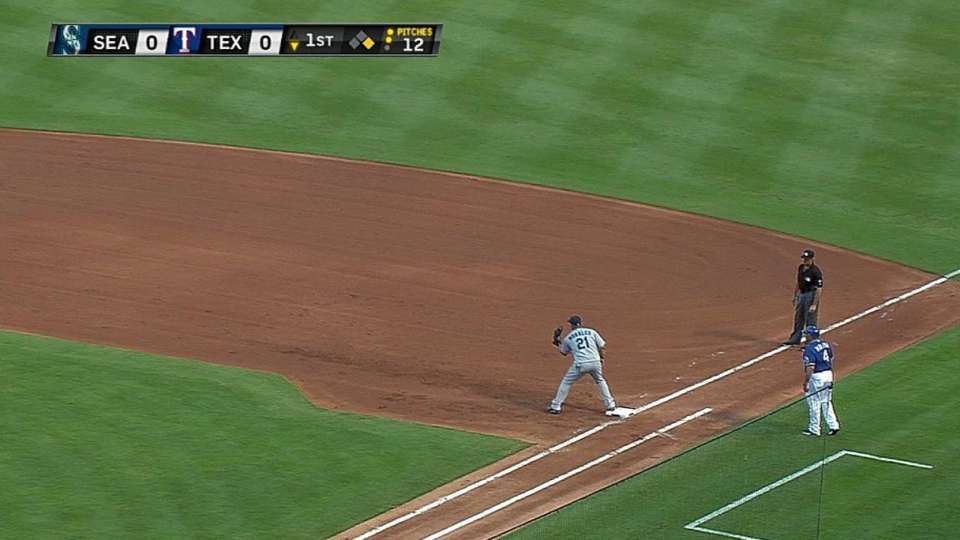 Jackson doubles off Andrus
